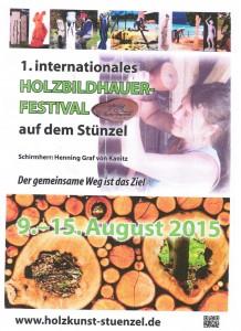 Plakat Holzbildhauerfestival